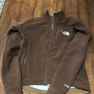 Ladies north face brown jacket